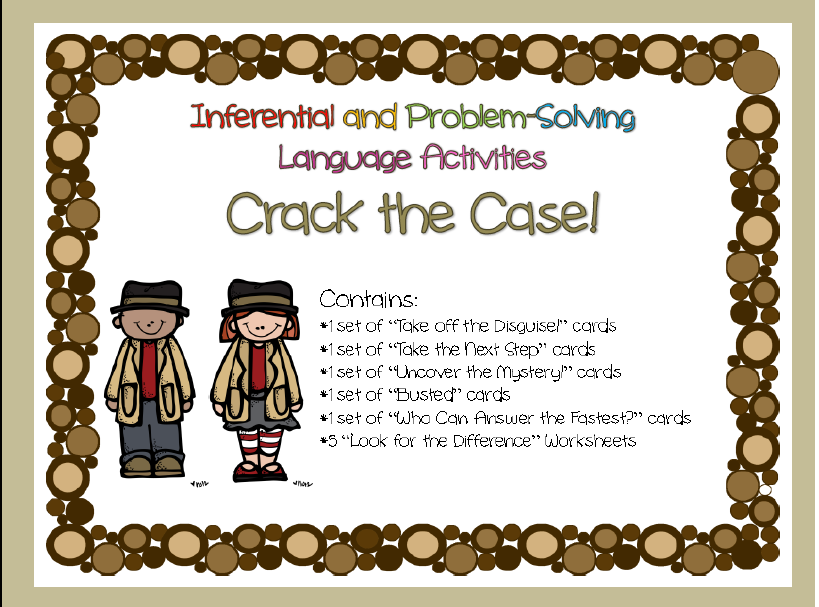 Free Give Away Making Inferences And Problem Solving Activity Pack