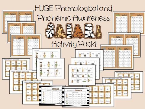 math worksheet : safari phonological awareness activity pack one that is actually  : Phonemic Awareness Worksheets Kindergarten