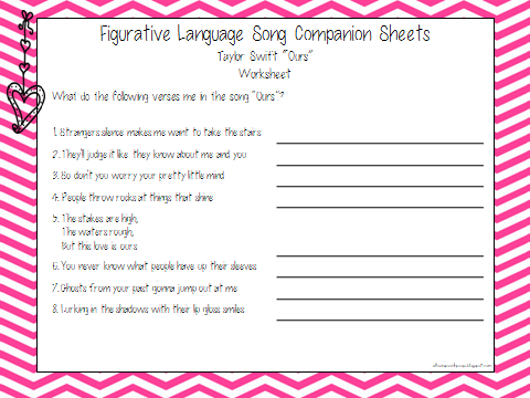 Printables Figurative Language Worksheets For Middle School figurative language worksheets middle school plustheapp school