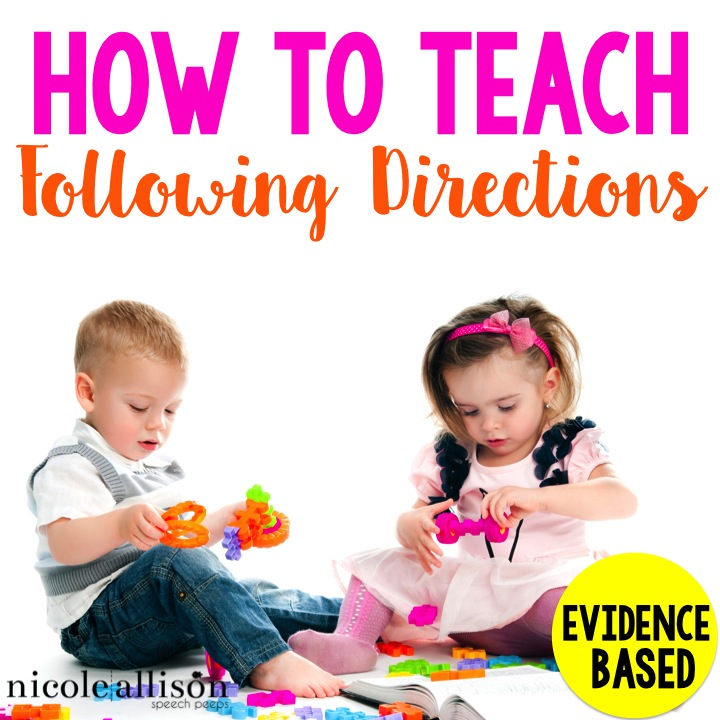teaching following directions speech peeps. Black Bedroom Furniture Sets. Home Design Ideas