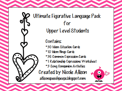 ultimate figurative language pack for upper level students speech peeps. Black Bedroom Furniture Sets. Home Design Ideas