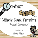 Context clues editable