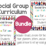 Social Group Curriculum Bundle Image